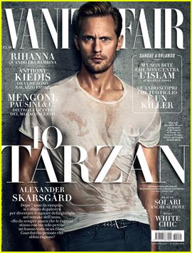 Alexander Skarsgard Is Wet & Sexy on Italian 'Vanity Fair' Cover