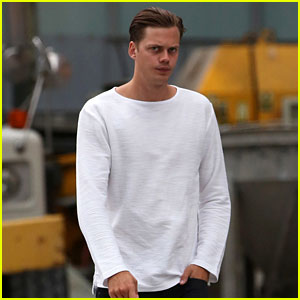 Bill Skarsgard Spotted on 'It' Remake Set (Not in Clown Makeup!)