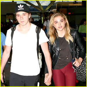 Brooklyn Beckham Supports Chloe Moretz at NYC Photo Shoot