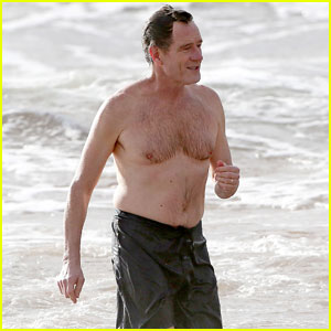 Bryan Cranston Goes Shirtless for Refreshing Swim in Hawaii