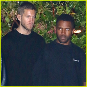 Newly Single Calvin Harris Hangs Out With Frank Ocean