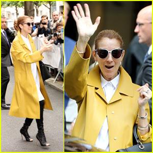 Celine Dion Arrives in Paris for Summer European Tour