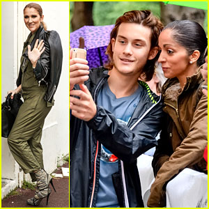 Celine Dion Greets Her Fans with Son Rene-Charles Angelil