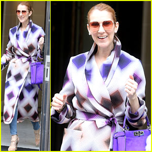 Celine Dion Is Pure Elegance in Her Purple Parisian Outfit!
