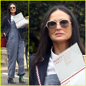 Demi Moore Promotes Daughter's Clothing Designs