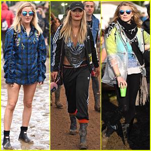Ellie Goulding & Rita Ora Hit up Glastonbury Festival