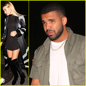 Drake & Hailey Baldwin Pictured on Dinner Date, Spotted Getting 'Very Affectionate' Over Memorial Day!