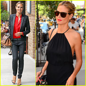 Heidi Klum Dances Around on Set of 'Project Runway' - Watch Now!