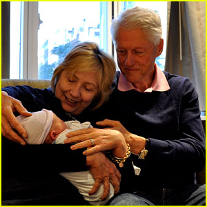 Hillary & Bill Clinton Share Photos of Chelsea's Son Aidan!