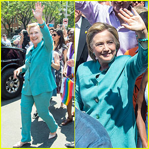 Hillary Clinton Participates in NYC Pride March 2016