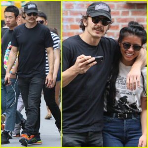 James Franco Gets Cozy With a Female Friend While Location Scouting