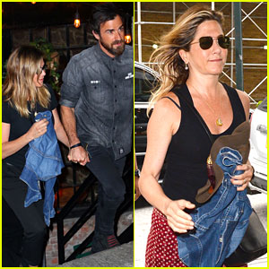 Jennifer Aniston & Justin Theroux Have a NYC Date Night!