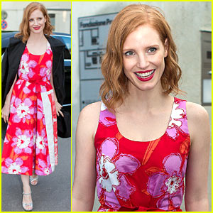 Jessica Chastain Hits Up Prada Event for Milan Fashion Week