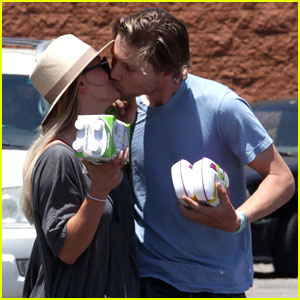 Kaley Cuoco & Karl Cook Share Cute Parking Lot PDA!