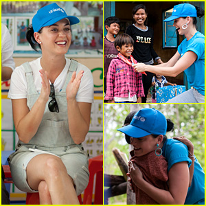 Katy Perry Meets with Children & Families During UNICEF Visit to Vietnam