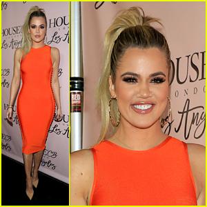 Khloe Kardashian Glows in Orange at House of CB Launch