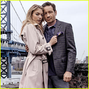 Martha Hunt & David Duchovny Star in London Fog's New Campaign!