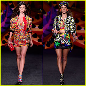 Miranda Kerr & Alessandra Ambrosio Walk the Runway for Moschino's LA Show