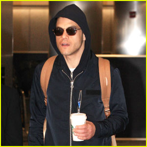 Rami Malek Channels His 'Mr. Robot' Character at the Airport