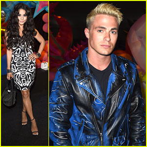 Vanessa Hudgens & Colton Haynes Sit Front Row for Moschino's Made LA Fashion Show