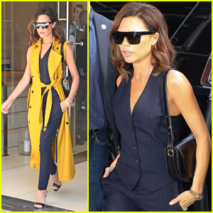Victoria Beckham Beats the Summer Heat in NYC