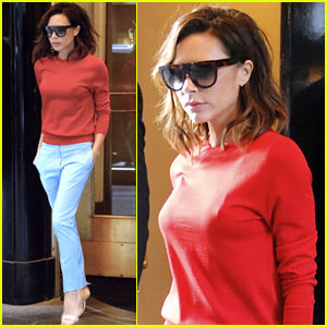 Victoria Beckham Brightens Up in New York City