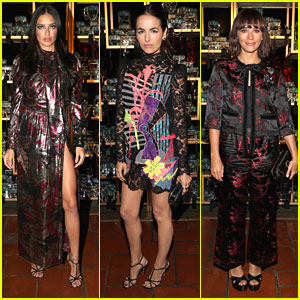 Adriana Lima & Camilla Belle Show Some Leg at Marc Jacobs Fashion Event