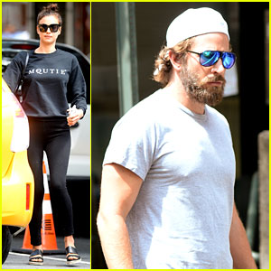 Bradley Cooper & Irina Shayk Head to NYC After DNC!
