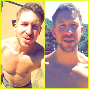 Calvin Harris Goes Shirtless on Snapchat to Celebrate VMA Noms!