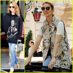 Celine Dion Wears 'Titanic' Sweatshirt, Hangs Out of Moon Roof in Paris!