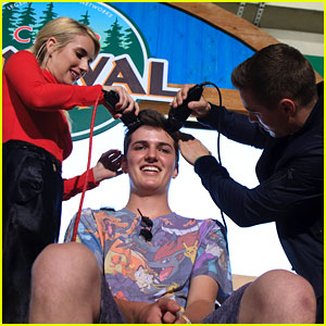 Emma Roberts & Dave Franco Shave YouTuber Shane Waxler's Head at Comic-Con 2016