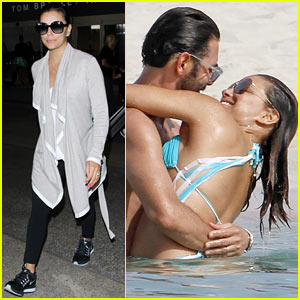 Eva Longoria Returns Home After Her Steamy Spanish Vacation!