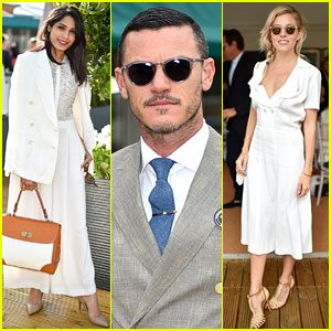 Freida Pinto, Luke Evans & Sienna Miller Hang in Ralph Lauren Suite During Wimbledon Finals!