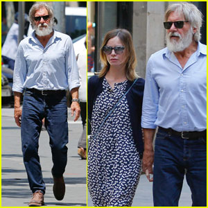 Harrison Ford & Calista Flockhart Take Romantic Stroll Through Barcelona