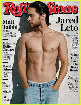 Jared Leto Shows Off His Shirtless Body for 'Rolling Stone'