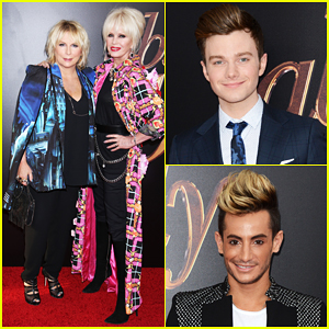 Jennifer Saunders & Joanna Lumley Are 'Absolutely Fabulous' with Chris Colfer In NYC!