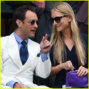 Jude Law & Phillipa Coan Couple Up at Wimbledon