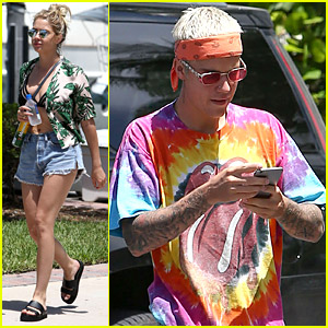 Justin Bieber Hangs with Ashley Benson on Fourth of July