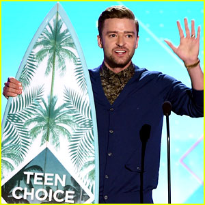 08d1b57d953ae9 Justin Timberlake accepts the Decade award while on stage at the 2016 Teen  Choice Awards held at The Forum on Sunday (July 31) in Inglewood
