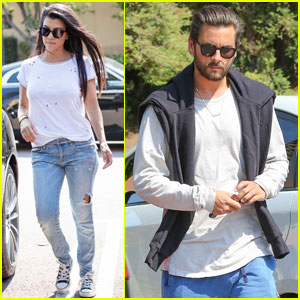 Kourtney Kardashian & Scott Disick Have a Movie Date With the Kids