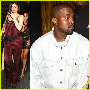 Kylie Jenner Parties With Pals In Slip Suit While Kanye West Steps Out At Nice Guy