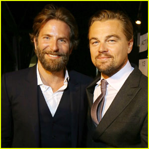 Leonardo DiCaprio Gets Support From Bradley Cooper at Auction Gala
