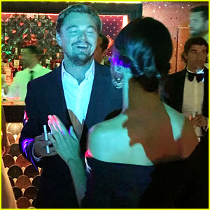 Leonardo DiCaprio Mingles with Guests at His Gala (Inside Pics)