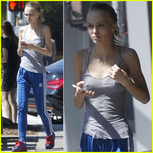 Lily-Rose Depp Makes an Afternoon Starbucks Stop in LA