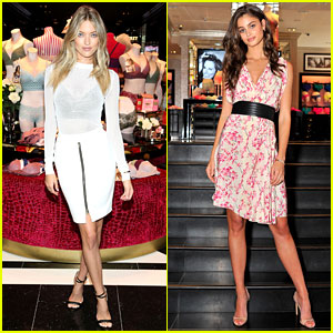Martha Hunt & Taylor Hill Do Promo Work for Victoria's Secret!