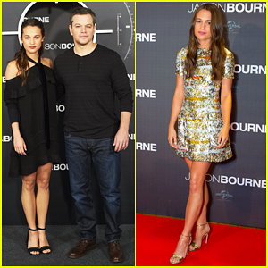 Matt Damon & Alicia Vikander Continue 'Jason Bourne' Press Tour In Paris & Madrid!