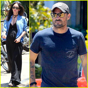 Megan Fox & Brian Austin Green Grab Lunch with Their Kids!