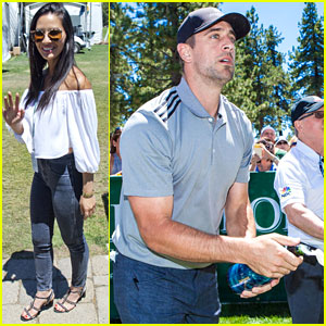 Olivia Munn Supports Aaron Rodgers at Celebrity Golf Tournament!
