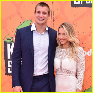 Rob Gronkowski & Girlfriend Camille Kostek Make First Public Appearance at Kids' Choice Sports Awards!