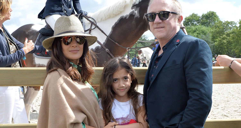 Salma Hayek Brings Daughter Valentina to Paris Horse Jumping
